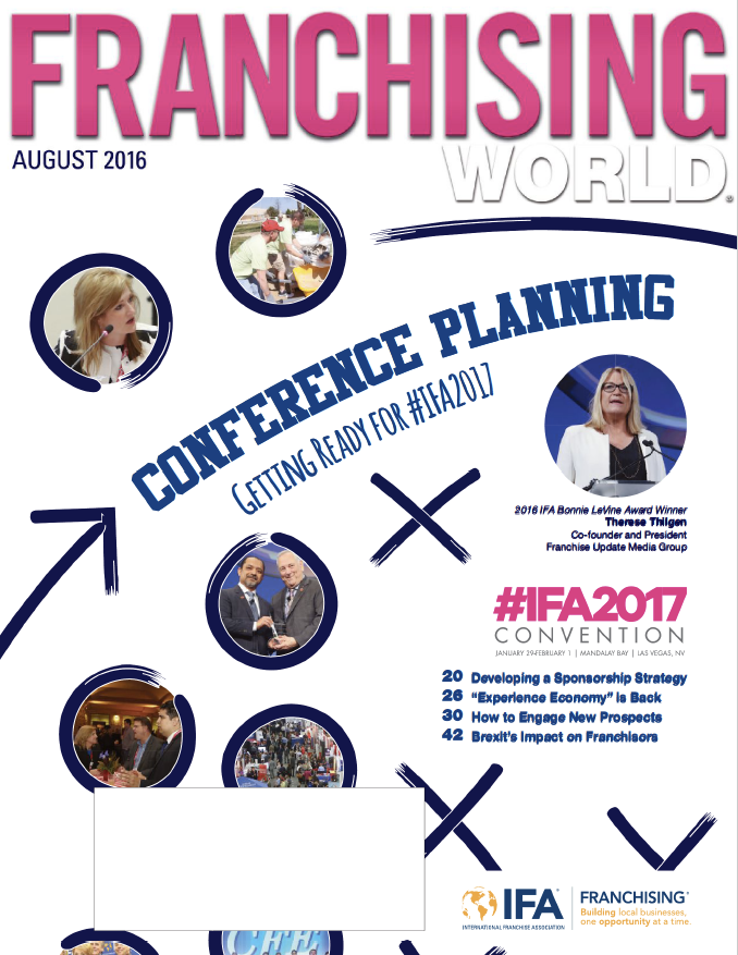 Franchising World August 2016 Digital Edition