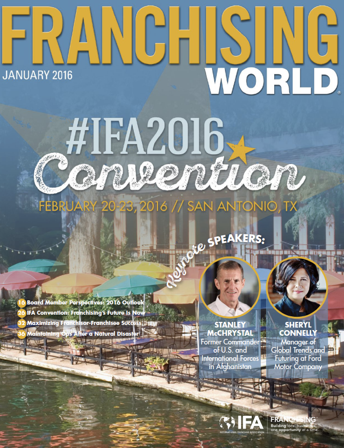 Franchising World January 2016 Digital Edition
