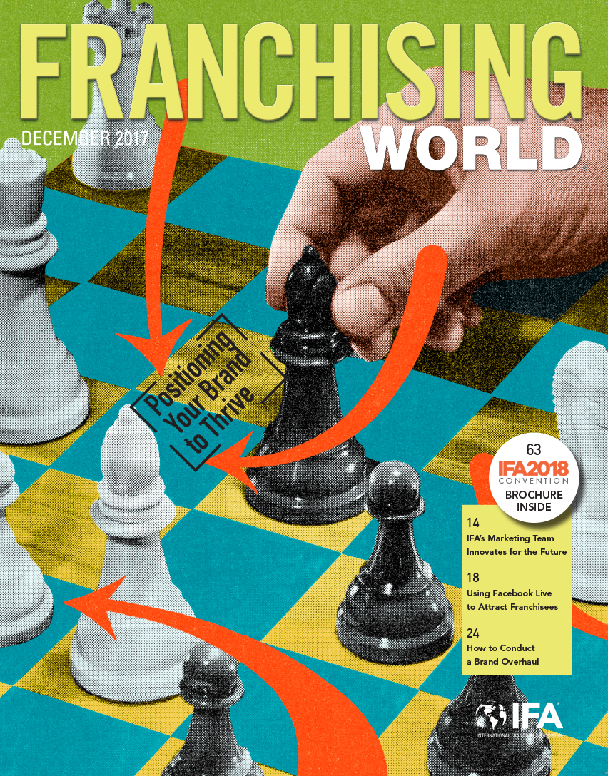 Cover of the December 2017 edition of Franchising World