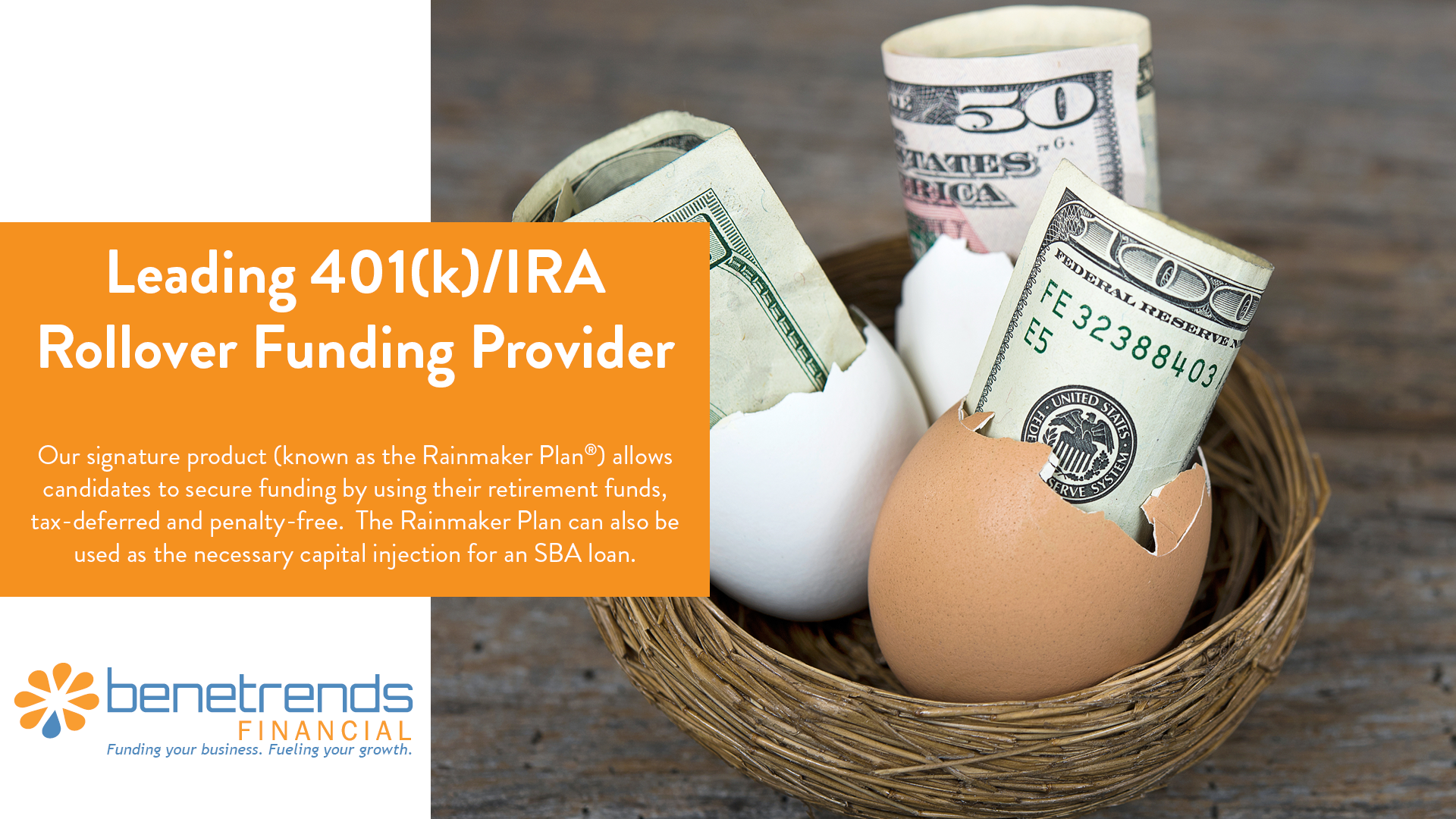 Benetrends Financial Leading 401(k)/IFA Rollover Funding Provider