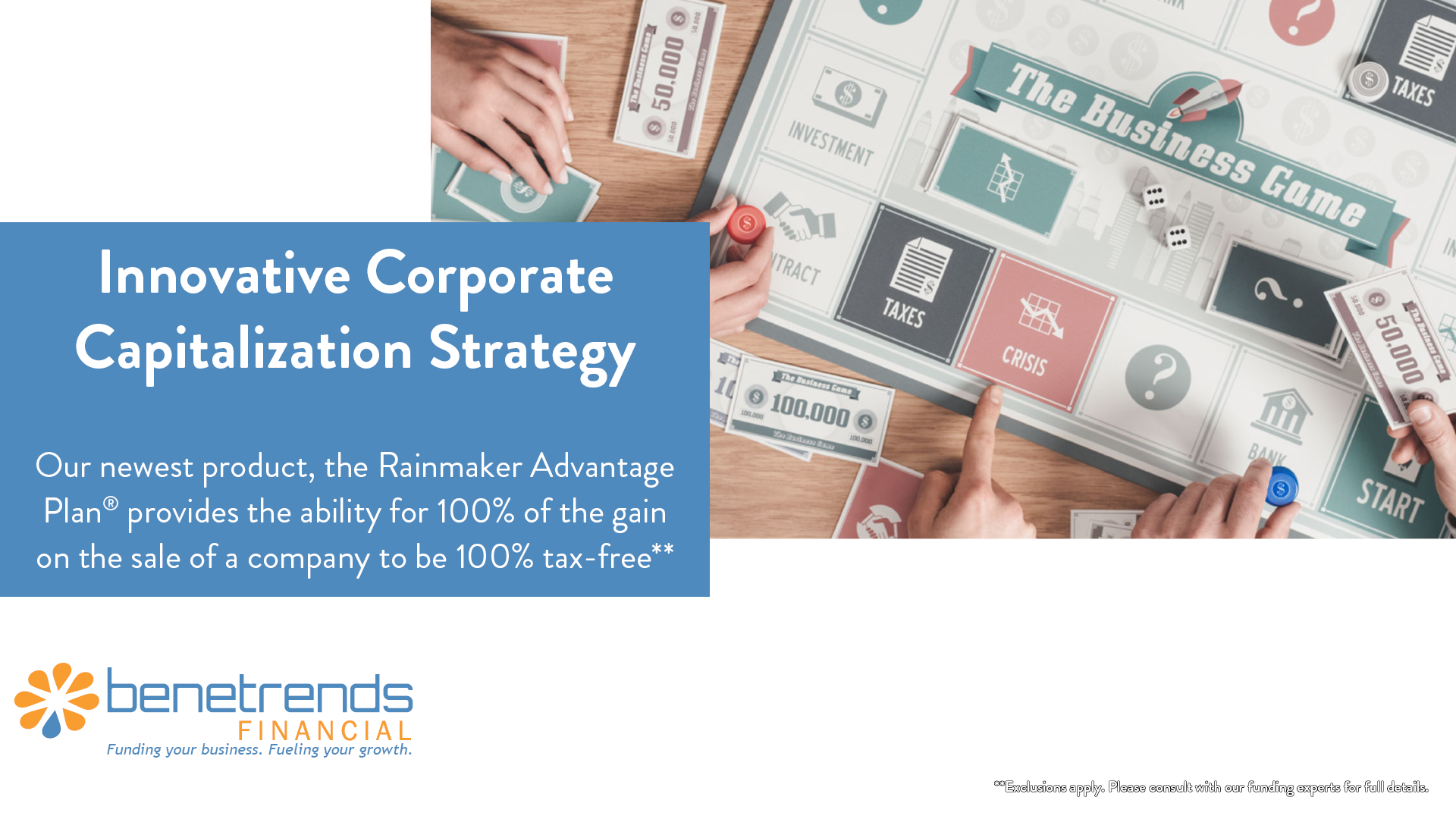 Benetrends Financial Innovative Corporate Capitalization Strategy
