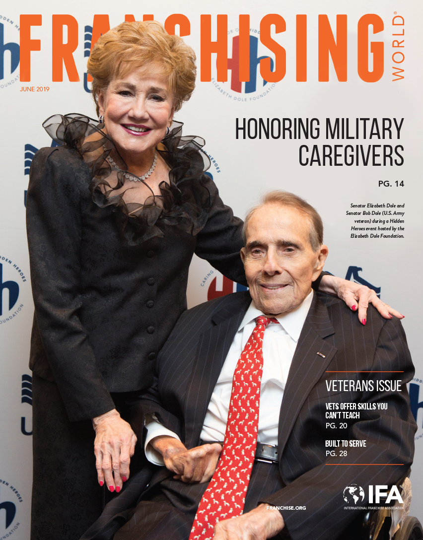 The June 2019 edition of Franchising World is focused on Veterans.
