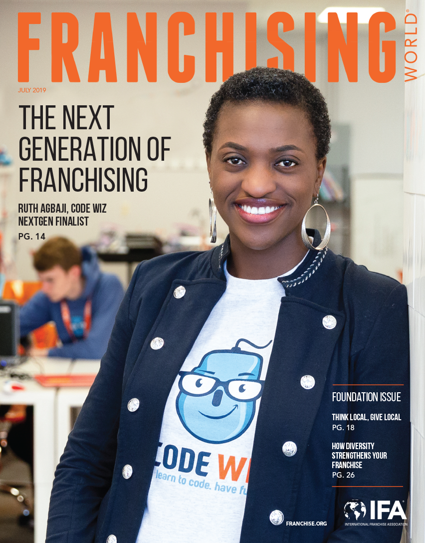 The July 2019 edition of Franchising World is focused on Diversity.